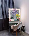 Небольшой гримерный столик с подсветкой на зеркале, фото 3