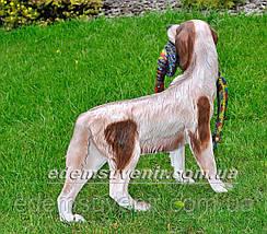 Садовая фигура Собака с фазаном, фото 3