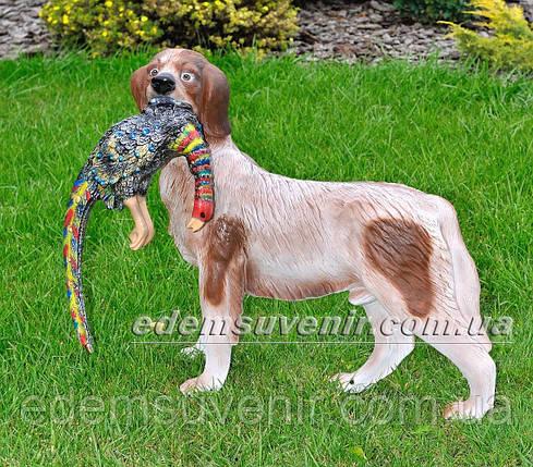 Садовая фигура Собака с фазаном, фото 2