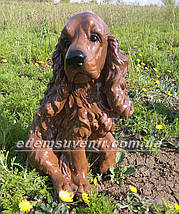 Садовая фигура собака Спаниель, фото 3