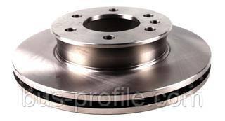 Диск тормозной (передний) MB Sprinter/VW Crafter 06- (299.6x28) — Solgy— 208004