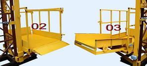 Строительный подъемник мачтовый секционный с выкатной платформой ПМГ г/п 750 кг . Мачтовые подъёмники Н-87 м, фото 2