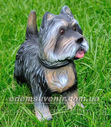 Садовая фигура собака Терьер, фото 2