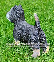 Садовая фигура собака Терьер, фото 3