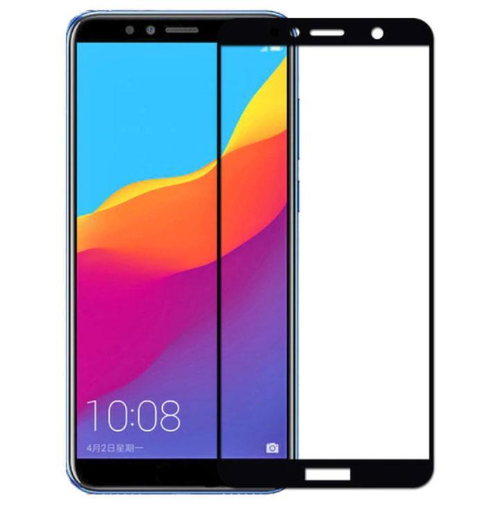 Full Glue защитное стекло для Huawei Y6 2018 - Black