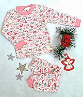 Пижама трикотажная, Турция, размер 1-4 года, розовый