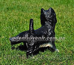 Садовая фигура собака Терьер писающий, фото 3