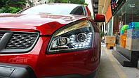 Передние фары LED тюнинг оптика Nissan Qashqai J10 (06-09) ксенон стиль VW