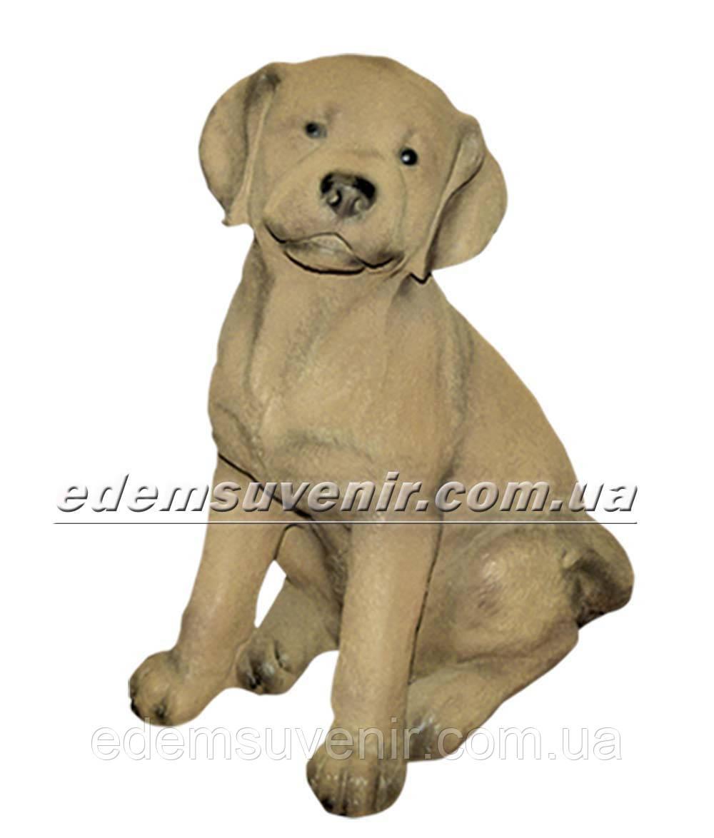 Садовая фигура собака щенок Лабрадора