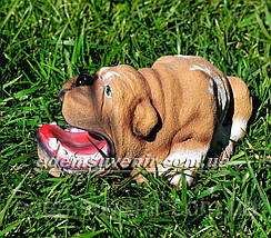 Садовая фигура Бульдог зевающий, фото 2