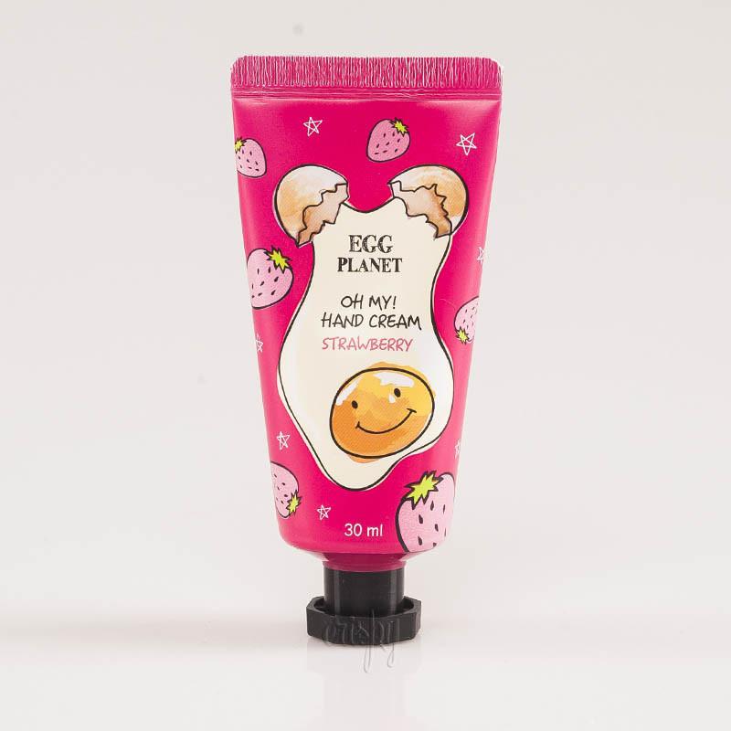 Крем для рук с ароматом клубники DAENG GI MEO RI Egg Planet Hand Cream Strawberry - 30 ml