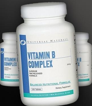 Витамины группы В Universal Nutrition 100 таб, фото 2