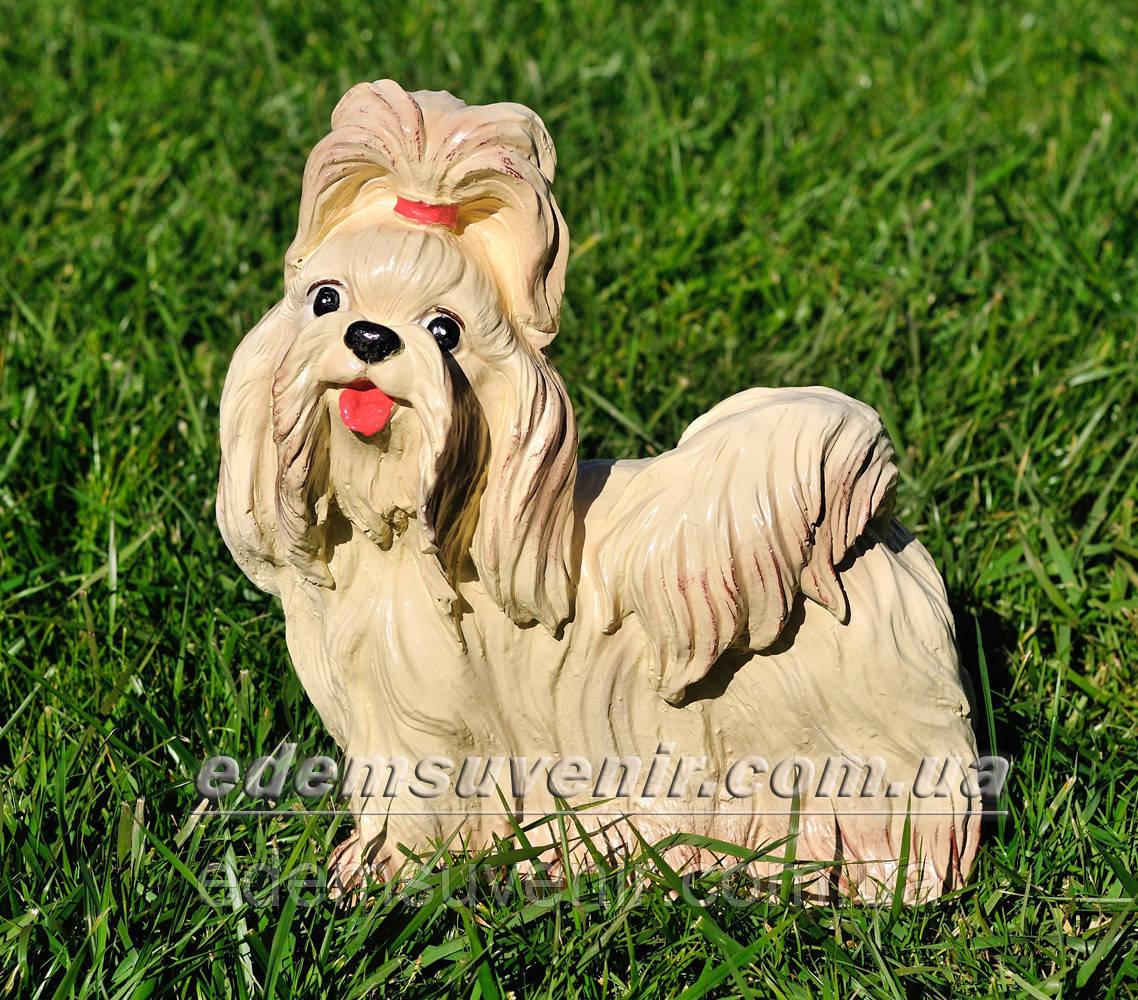 Садовая фигура собака Болонка