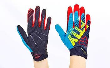Кроссовые перчатки текстильные FOX (закр.пальцы, р-р M-XL) PK-4