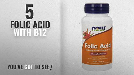 Фолиевая кислота 800mcg +витамин B-12 NOW 250 tabs, фото 2