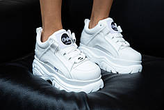 "Кроссовки Buffalo Classic Low-Top Platform Sneakers ""White"" (Белые)"