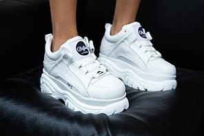 """Кроссовки Buffalo Classic Low-Top Platform Sneakers """"White"""" (Белые), фото 2"""