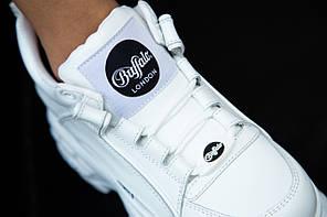 """Кроссовки Buffalo Classic Low-Top Platform Sneakers """"White"""" (Белые), фото 3"""