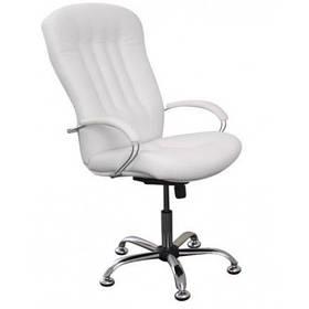 Кресло педикюрное Портос кожзаменитель белый матовый (Frizel TM)