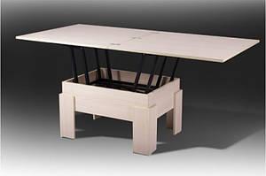 Раскладной стол - трансформер ДЕЛЬТА (дсп - молочный)