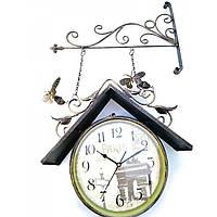 Часы станционные двухсторонние (d-25 см 47х68х10,5 см) ( 32015)