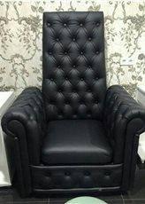Кресло педикюрное Трон Ice Queen на четыре пуговицы, кожзаменитель Boom-24 (Velmi TM)