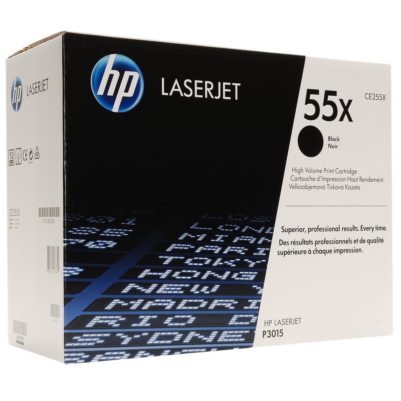 Картридж HP 55X для LJ P3015, Black (CE255X)