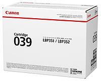 Картридж Canon 039 для LBP35х, Black (0287C001)