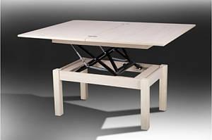 Стол трансформер- ФЛАЙ. Ноги массив дерева, столешница ДСП. Цвет- дуб молочный.