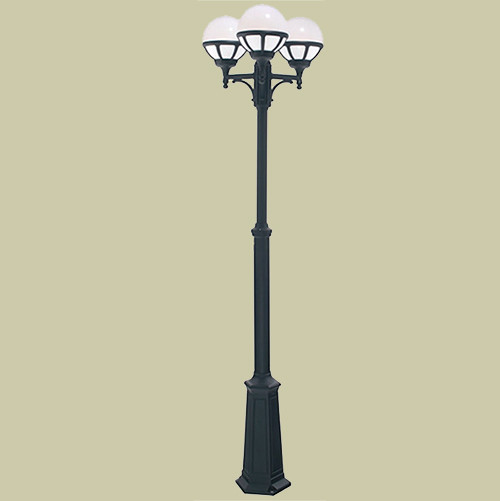 Уличный фонарь Norlys Bologna 365B 3х46Вт E27 белый/металл