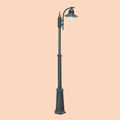 Уличный фонарь Norlys Como 371B 1х57Вт E27 черный/металл