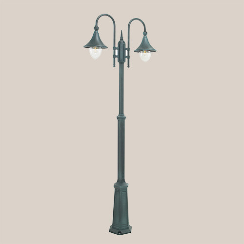 Уличный фонарь Norlys Firenze 820BG 2х57Вт E27 прозрачный/металл