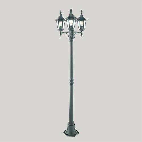 Уличный фонарь Norlys Rimini 403В 3х46Вт E27 черный/металл