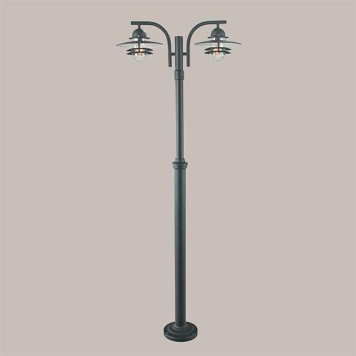 Уличный фонарь Norlys Oslo 242В 2х57Вт E27 черный/металл