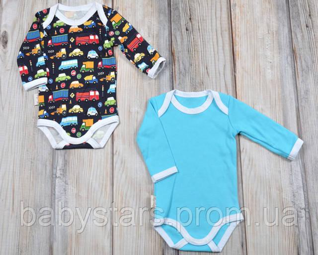 """Боди с длинным рукавом для новорожденных мальчиков, набор """"Cars"""""""