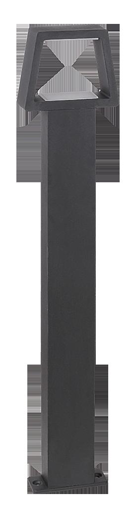 Уличный фонарь Rabalux Arizona 8669 1х10,5Вт LED серый/металл