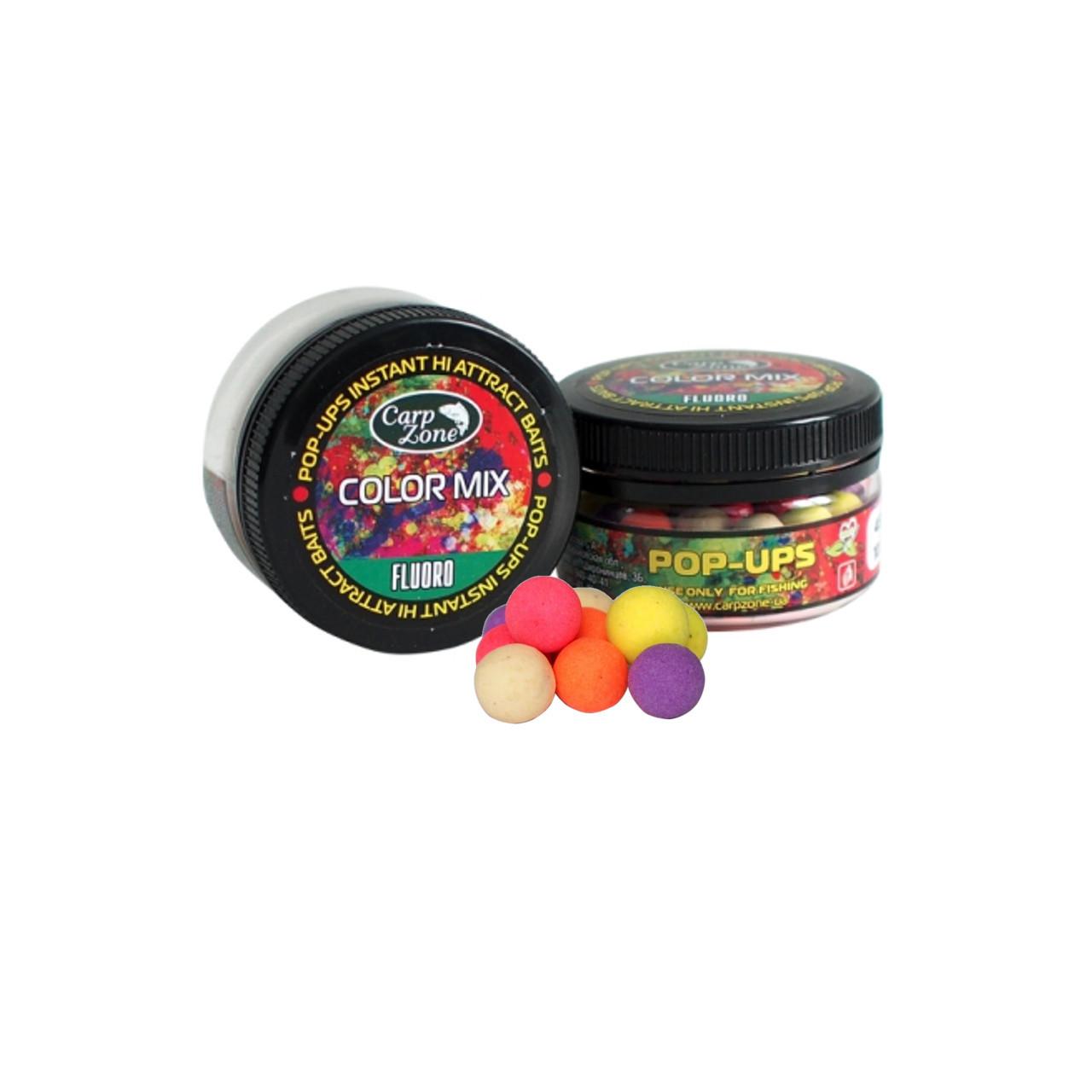 Поп Ап Pop-Ups Fluro Color Mix (Цветной микс)  12mm/30pc