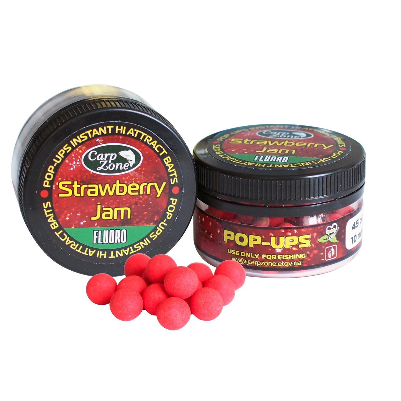 Поп Ап Pop-Ups Fluro Strawberry Jam (Клубничный Джем)  12mm/30pc
