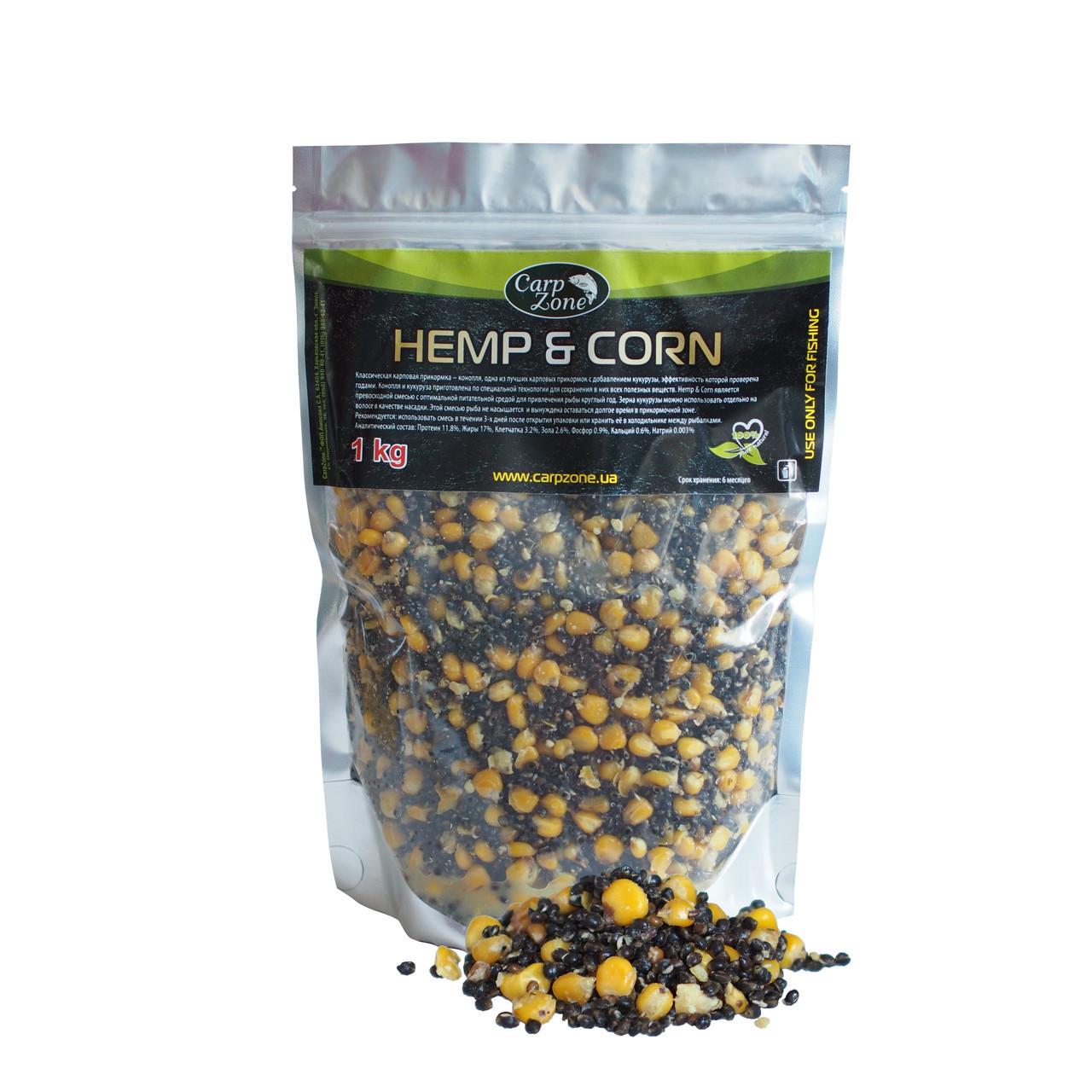 Готовая конопля и кукуруза Hemp & Corn 1kg