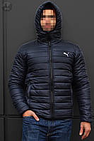 Зимняя мужская куртка, куртка-бомбер, чоловіча зимова куртка  Puma Winter, Реплика