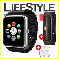 Акция! Умные часы-телефон Smart Watch GT08 + Колонка JBL Charge2 и Apple Ear Pods в Подарок