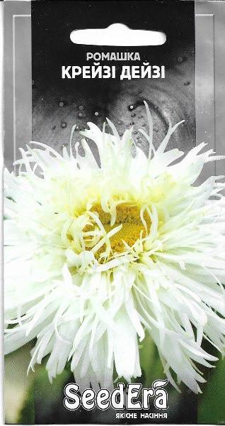 Ромашка крупноцветковая Крейзи Дейзи многолетняя Seedera, 0,1 г