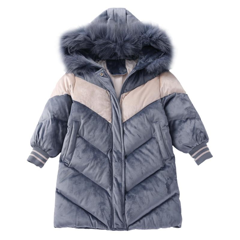 Детская куртка 110-160, серый