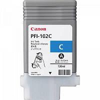 Картридж Canon PFI-102C для iPF500/600/700 Cyan, 130 мл  (0896B001)