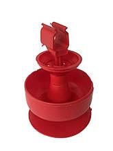 Пружинна велика чашка для напування курчат на квадратну трубу