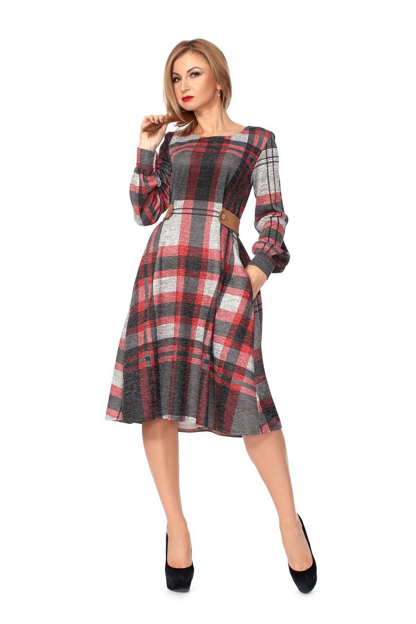 2df0459639f Я-Модна - купить Женское платье в клетку А-силуэта 1112   размер 42 ...