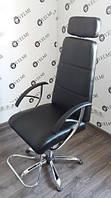Кресло для Визажа и Педикюра Make Up с подножкой и подлокотниками, кожзаменитель Boom-23 (Velmi TM)