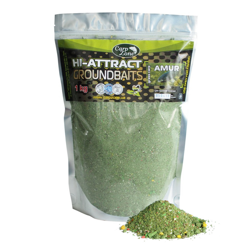 Прикормка Hi-Attractant Groundbait АMUR grass carp (Амур)  1 кг