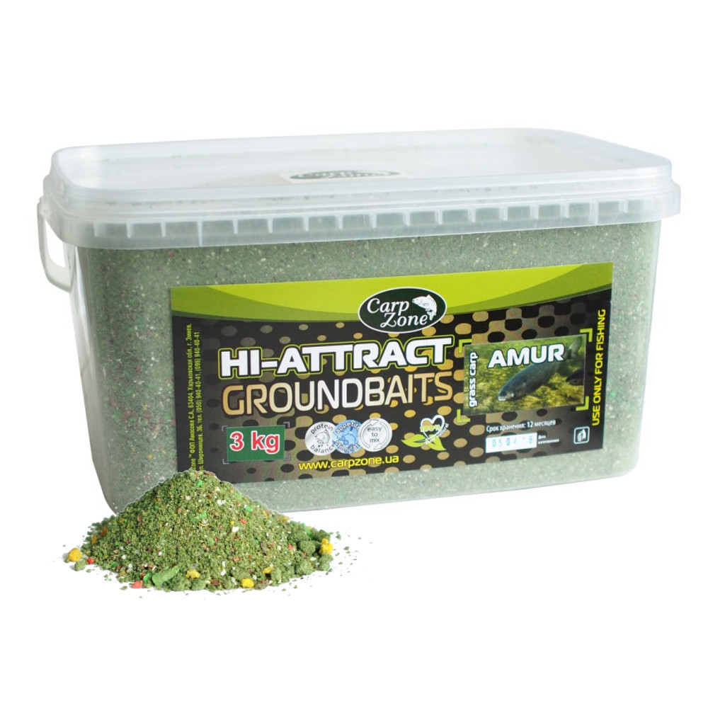 Прикормка Hi-Attractant Groundbait АMUR grass carp (Амур)  3 кг