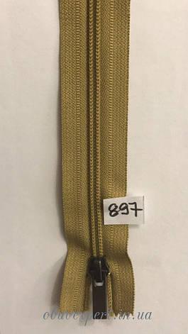 Молния спираль №7 M-ZIP, 50 см, цв. желто-коричневый (897), фото 2